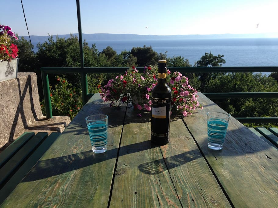 Have a glass of wine and enjoy the sunset