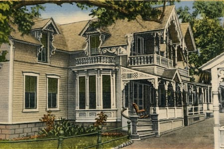 Oak Bluffs, Martha's Vineyard; Gingerbread House - Oak Bluffs