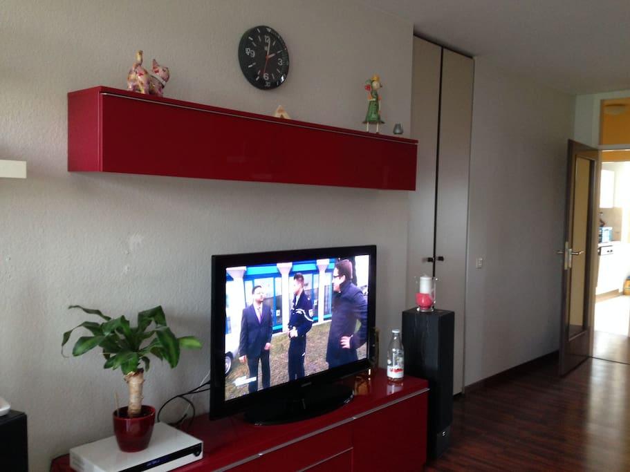 TV Ecke im Wohnzimmer