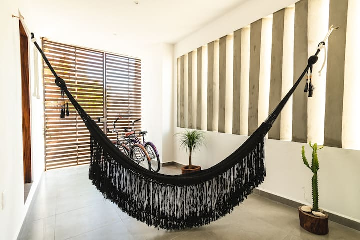 Boho-chic King suite. With beach club