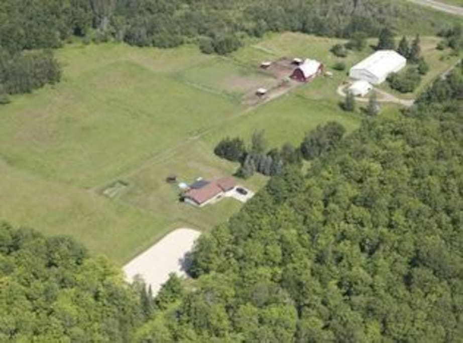aerial overview of Tonella Farms