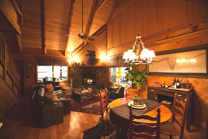Quintessential Cabin Nestled Above a Rushing Creek
