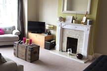 Cozy bright lounge