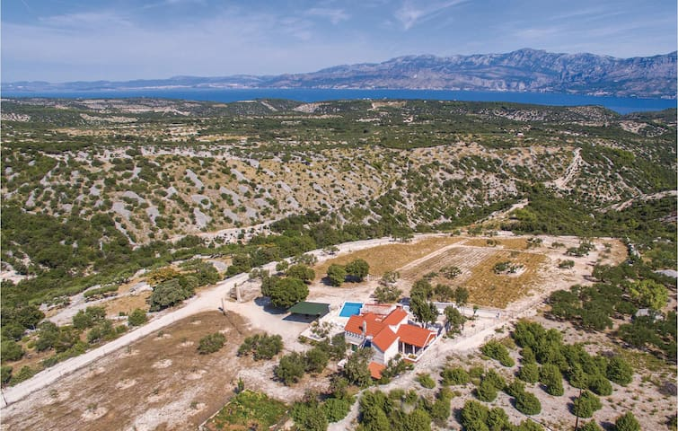 Traditional Dalmatian holiday stone house on the Island of Brac