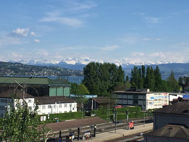 Lake & mountain views close to city centre - Zürich - Wohnung