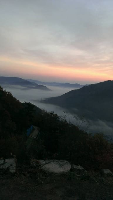 SUNRISE &  Sea of  clouds  from Takeda  Casle Ruins 竹田城跡からの雲海
