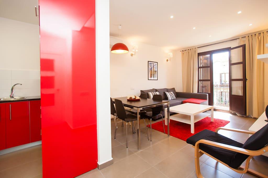 Spacious apartment barcelona center appartamenti in for Appartamenti barcellona affitto annuale