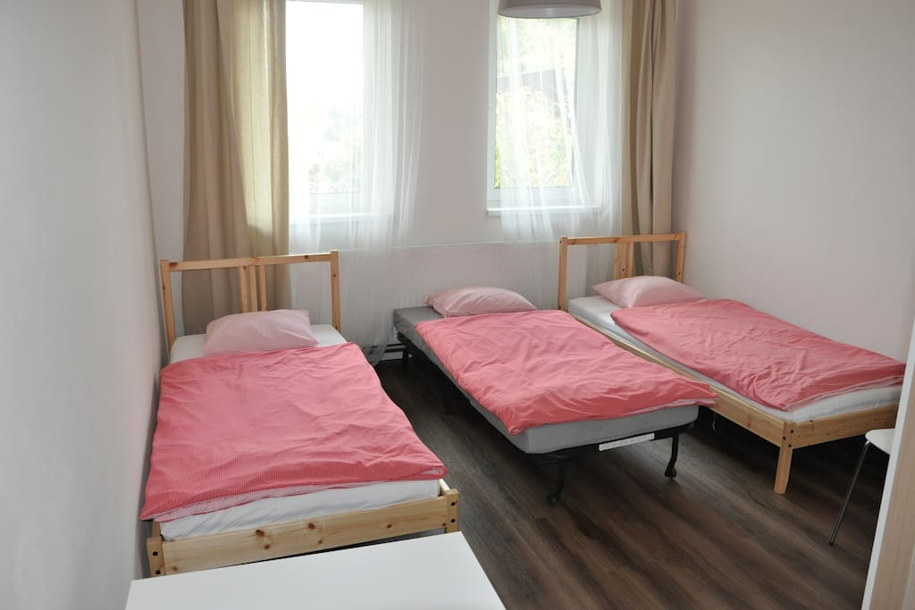 Come to Green Prague guest house neighboring to the main hub between Vaclav Havel Airport and Prague Old Town and large natural swiming pools in the same time. You will stay in the great natural park and 20 mins from downtown and airport in the same time. Easy parking!