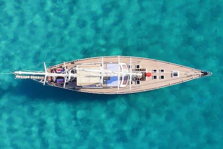 Stanza matrimoniale privata su yacht a vela 26mt. - Tarragona - Boot
