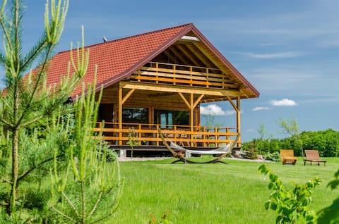 Amplia cabaña en el lago Mazury