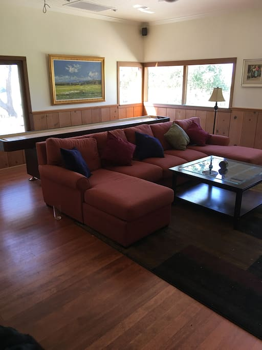 Family Room, Lounging Couch and Shuffle Board Table