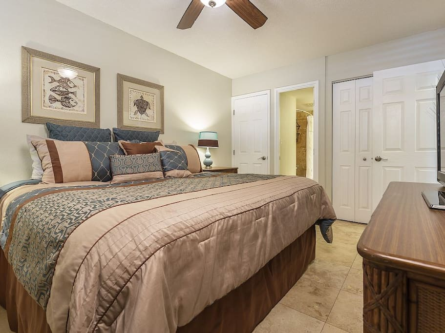 Master Bedroom With Luxury King Sized Bed