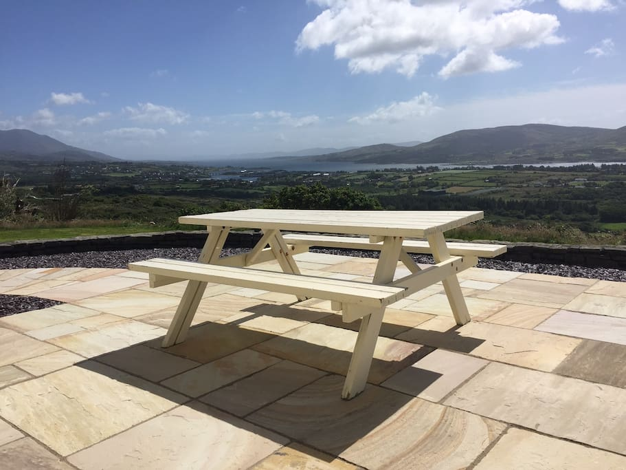 Part of patio with views of Bere Island and Hungry Hill