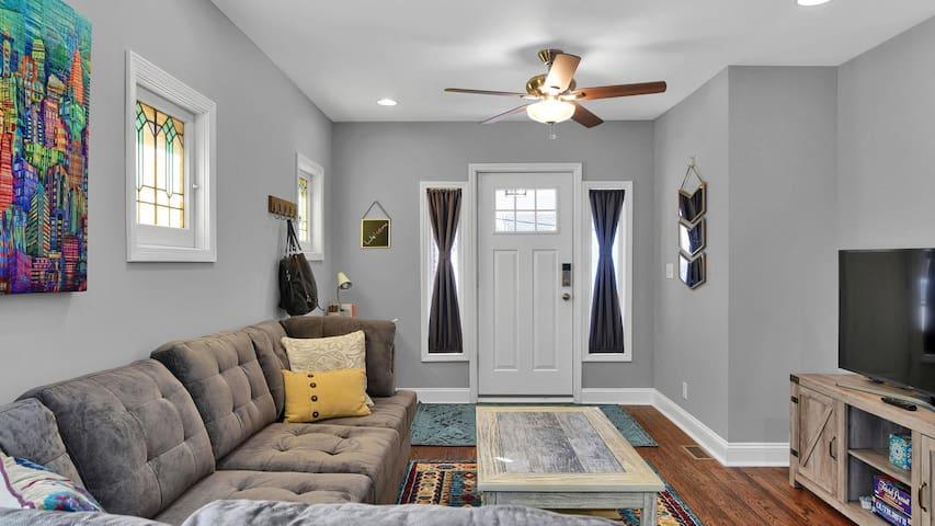 Front door from living room