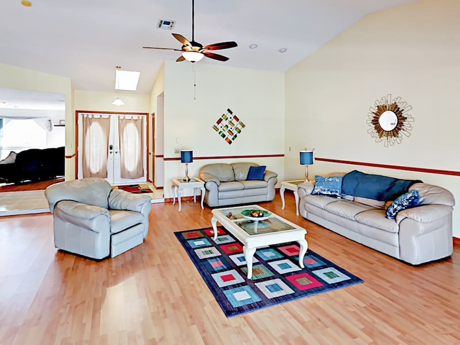 Welcoming living area. Professionally cleaned by TurnKey's dedicated 24/7 team.