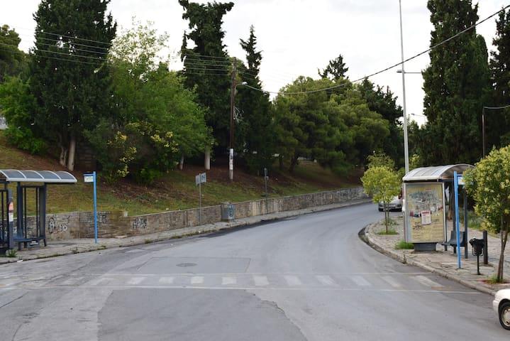 Bus stop- 2 minutes walking distance