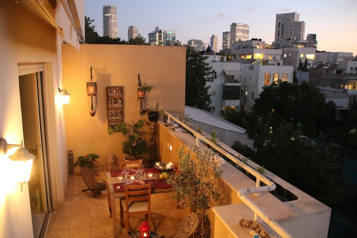 Beautiful quiet apartment with stunning terrace