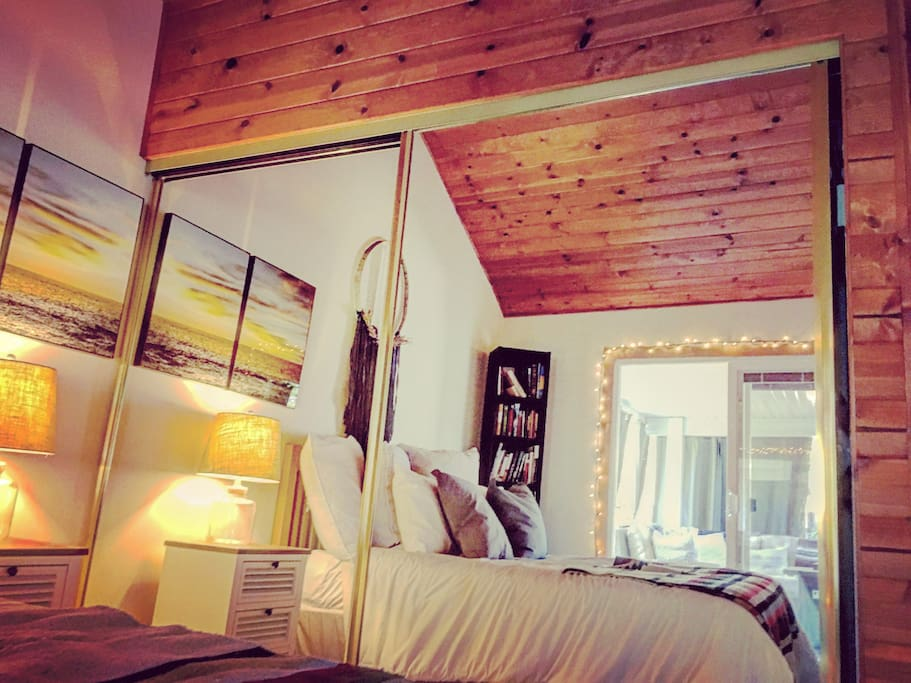 Bedrooms open directly to back yard patios. Wood beamed ceilings. Light and airy rooms that are very nicely appointed.