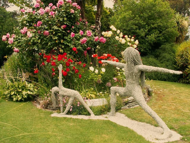 There are 3000 Roses and plenty of other flowers, water features, and wild life in our huge garden.