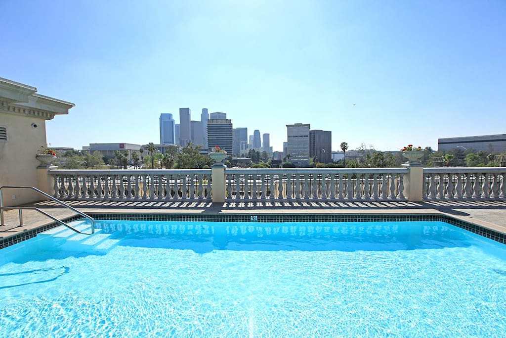 Large pool on the rooftop