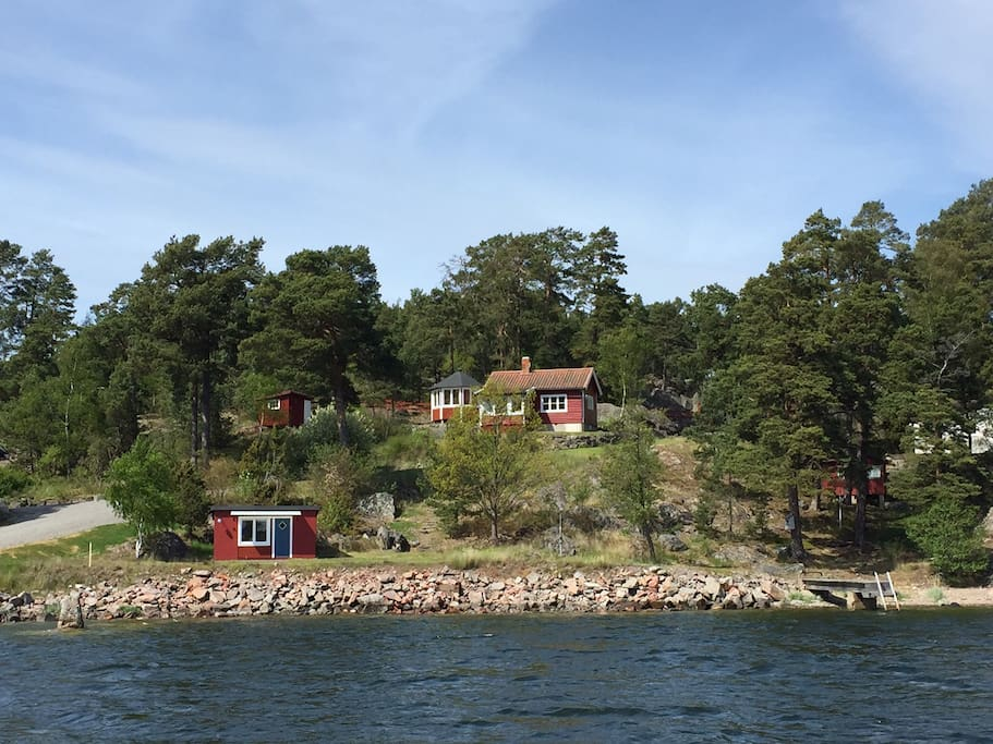 Main house and sea house from the water