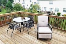 Catch some rays on the deck and try out the outdoor recliner.