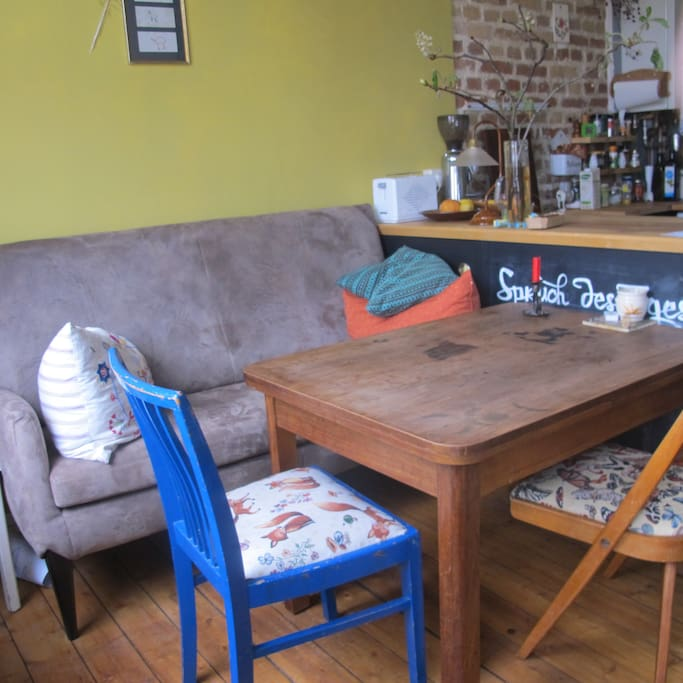 Sitznische mit Küchensofa