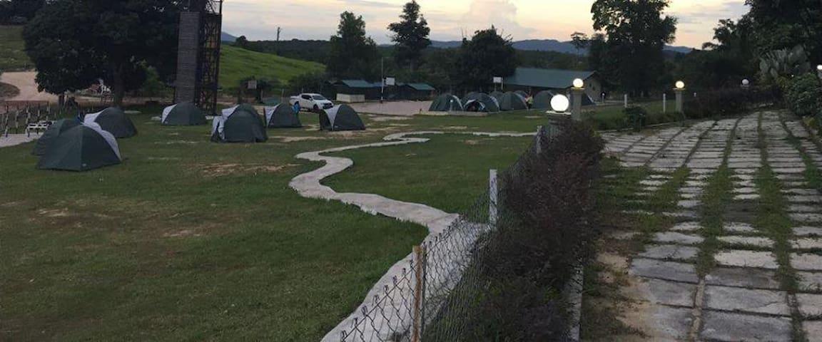 Camping at Juasseh Agro Park...