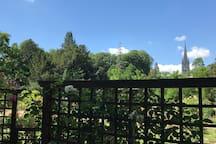 Vue sur la basilique saint Epvre depuis la pépinière