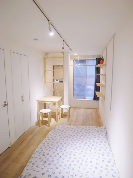 Simple and fashionable room of designer's apartment