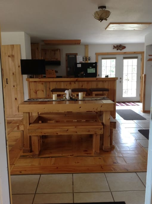 Handmade cedar furniture cut from The Lodges 16 acres