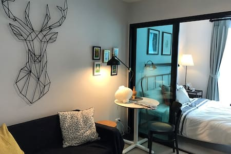 Cozy room only 6mins walk from Bearing station. - Bangkok