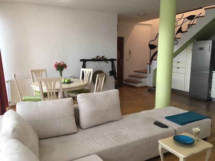 Apartment Sole City center 850m free Parking place