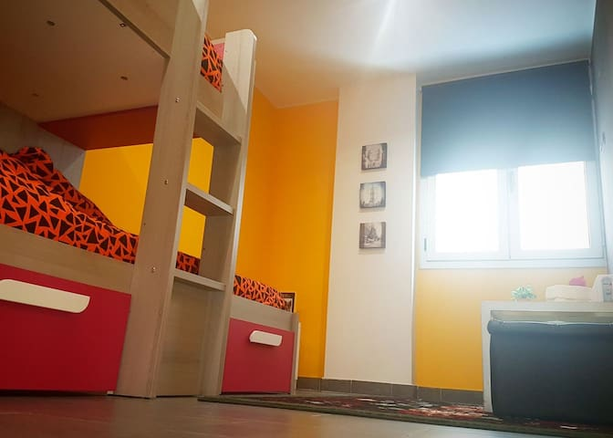 Habitacion con litera súper amplia!!