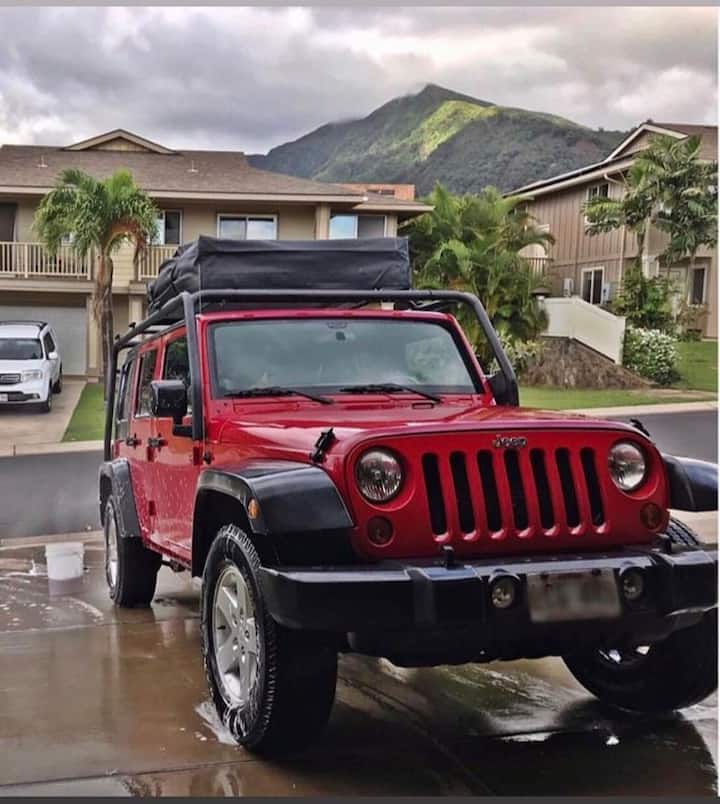 Big Red 2012 jeep wrangler