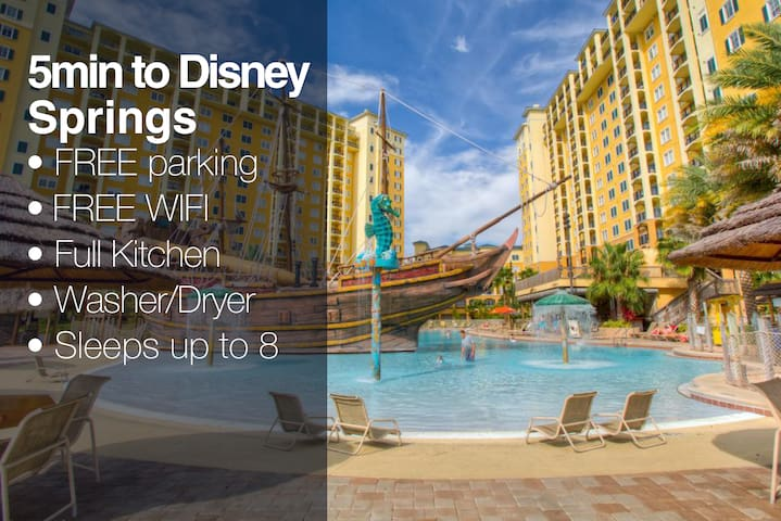 BY DISNEY SPRINGS FOR 8 GUESTS