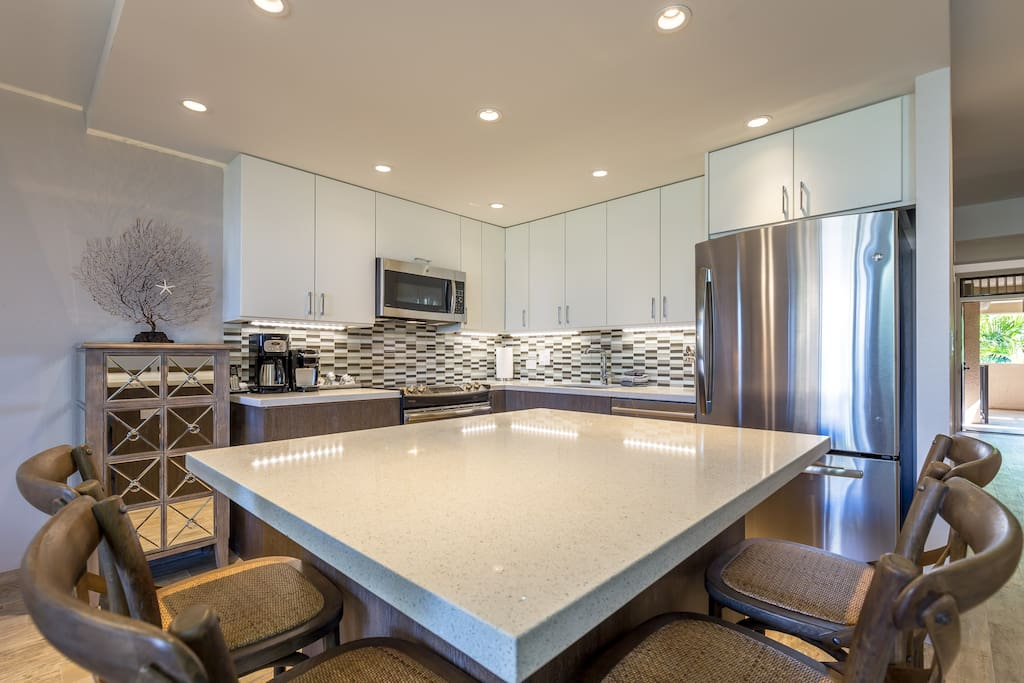 All New Cabinetry With Quartz Counters And Stainless Steel Appliances