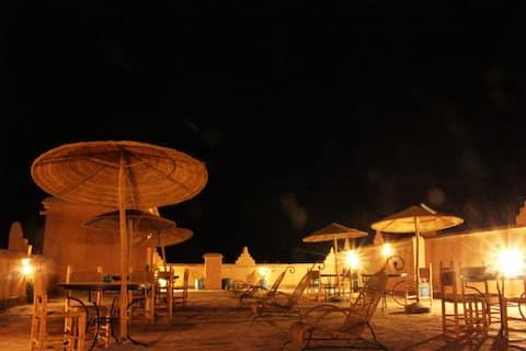 Private Luxury Double Room in Kasbah Ennakb