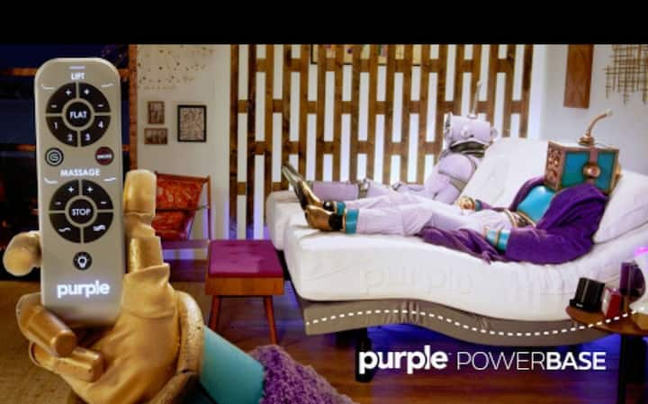 BUNGALOW 7- featuring Massaging Purple Mattress