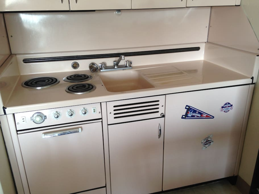Stove, oven and refrigerator