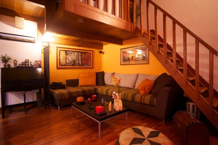 Un alloggio caratteristico, intimo e romantico.