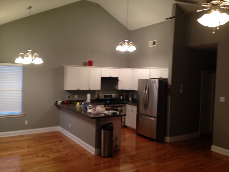 This is the kitchen, which you are more than welcome to use (just clean up after)
