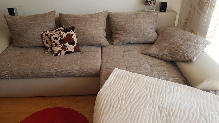 Comfortable sleeping couch near the city centre