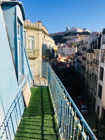 Quarto Gralhas em casa histórica no centro Lisboa
