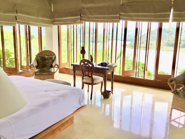 Frangipani room with a direct view of Knuckles mountain