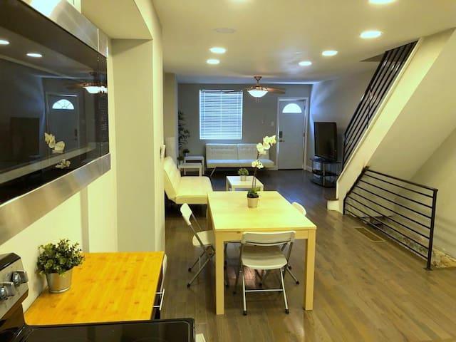 Modern Home with 3 BDRMS, close to Fairmount Park