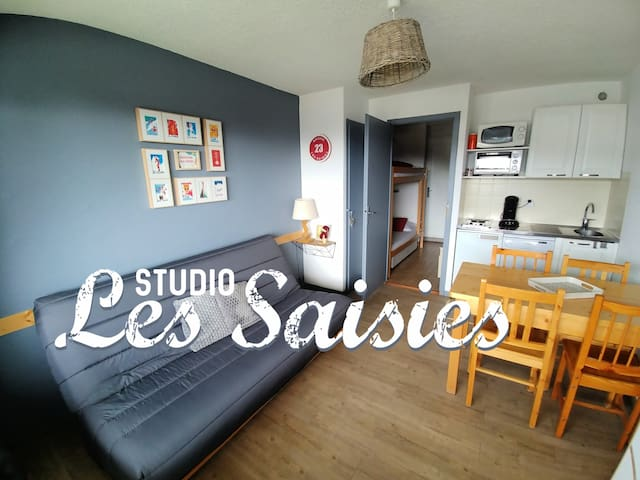 Studio aux Saisies vue panoramique Beaufortain