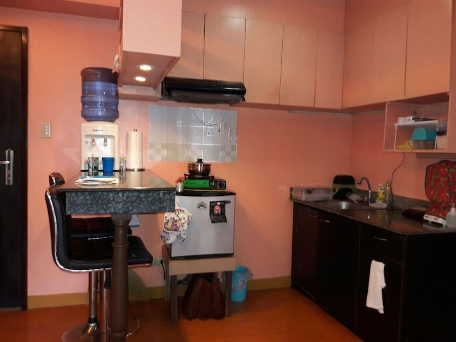 Guests are welcome to use the kitchen and dining facilities of my place.