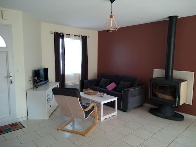 Salon avec convertible confortable