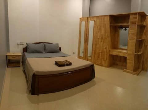 37 m2 air-con room. Private kitchen and bathroom.